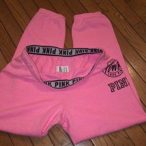 Pink Victoria's Secret fitted Capri sweatpants